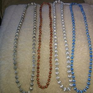 4 Strands Satin Wrapped Beads